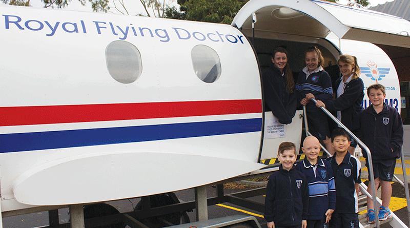 The Royal Flying Doctors' visit John Paul II Catholic School