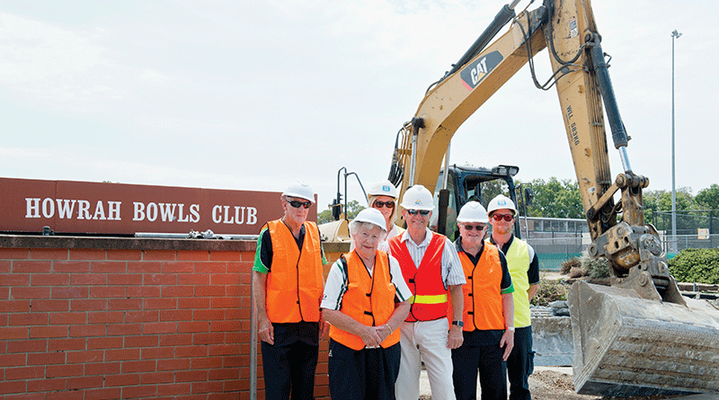 Turning of sod for Howrah indoor bowls facility