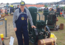 Vintage farmers start their engines