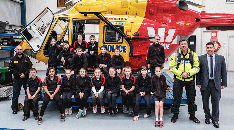 Spirits high during Westpac chopper visit