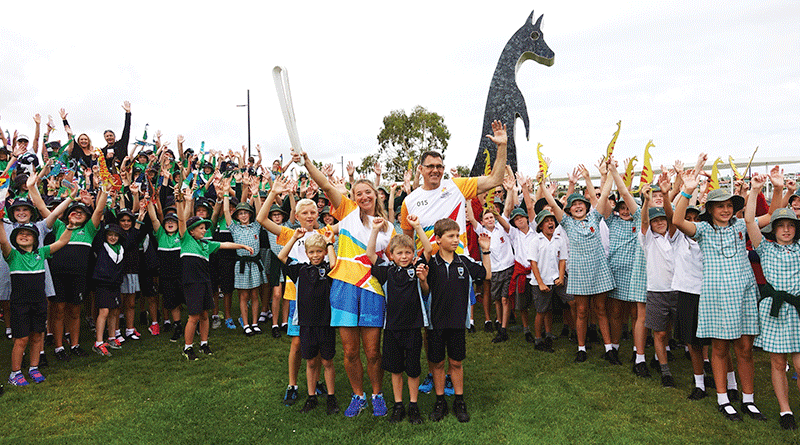 Thirty-five locals take up the baton