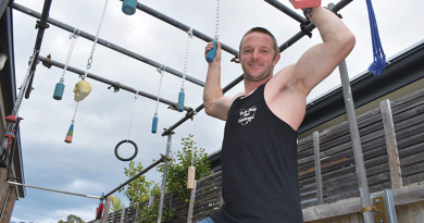 Tassie ninja warrior's climb to the top